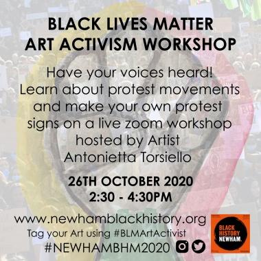 BLM Art Activism Flyer